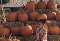 Stormi at the Pumpkin Patch