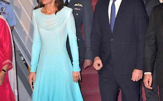 Prince William Kate Middleton Plane Pakistan