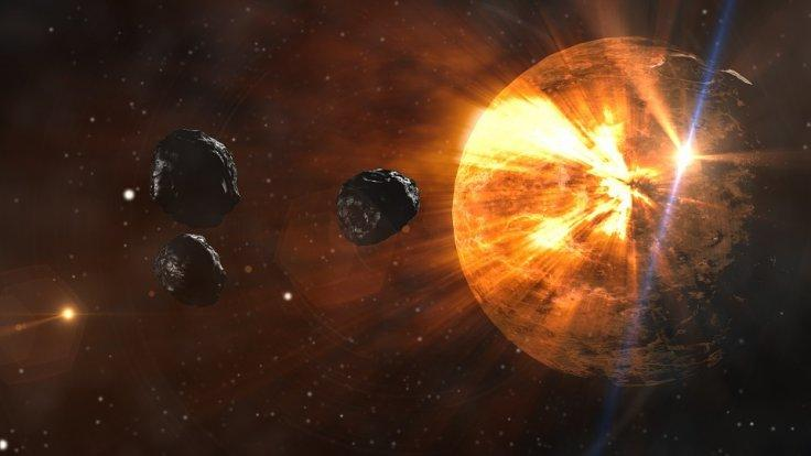 asteroid in a collision course
