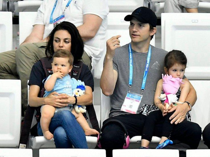 Ashton Kutcher Mila Kunis With Kids