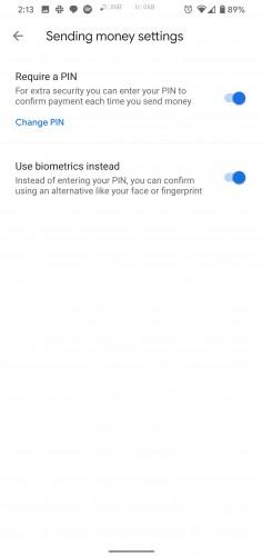 Google Pay Biometric Authentication