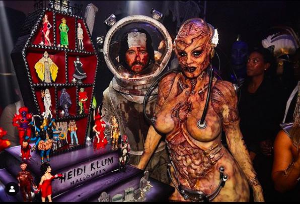 'Queen of Halloween' Heidi Klum's costume will scare to hell