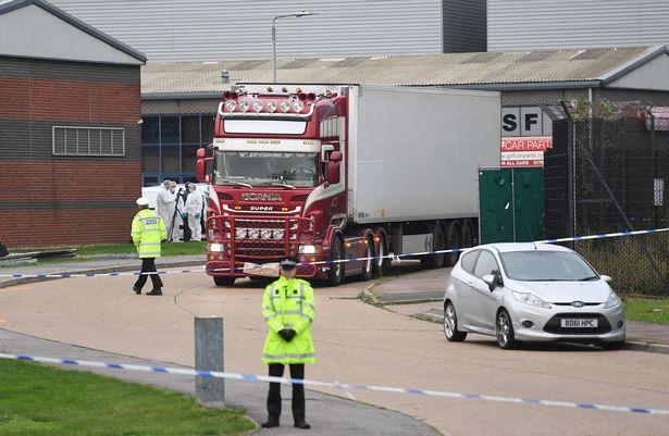 Lorry in which 39 victims were found