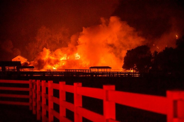 Fire destroys a structure in California