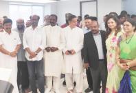 Vairamuthu with Rajinikanth and Kamal Haasan
