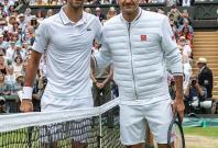 Djokovic & Federer at Wimbeldon final