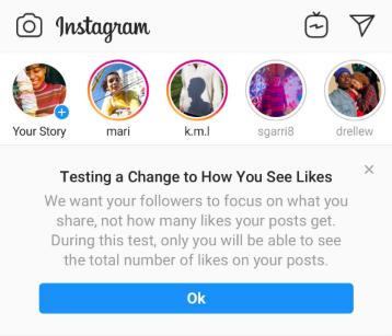 Instagram removes Likes.