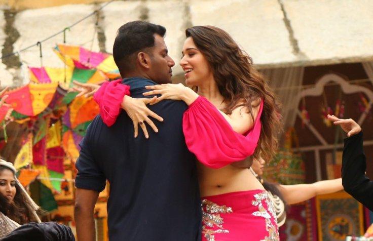 Vishal and Tamannaah in Action