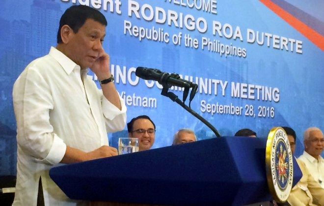 Philippines President Duterte vows to end joint US military drills