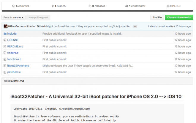 iH8sn0w's iBoot patcher