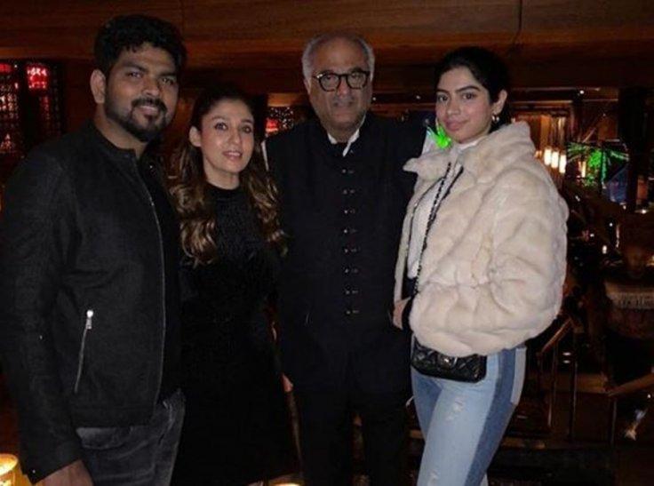 Nayanthara and Vignesh with Boney Kapoor