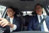 Stephen Colbert and Jacinda Ardern