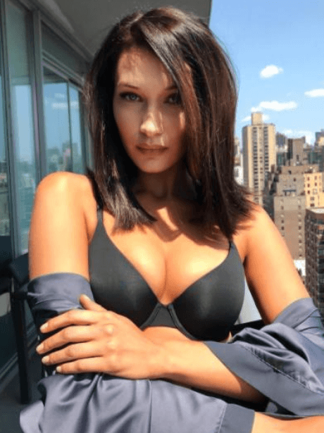 Bella Hadid In Victoria's Secret Black Bra