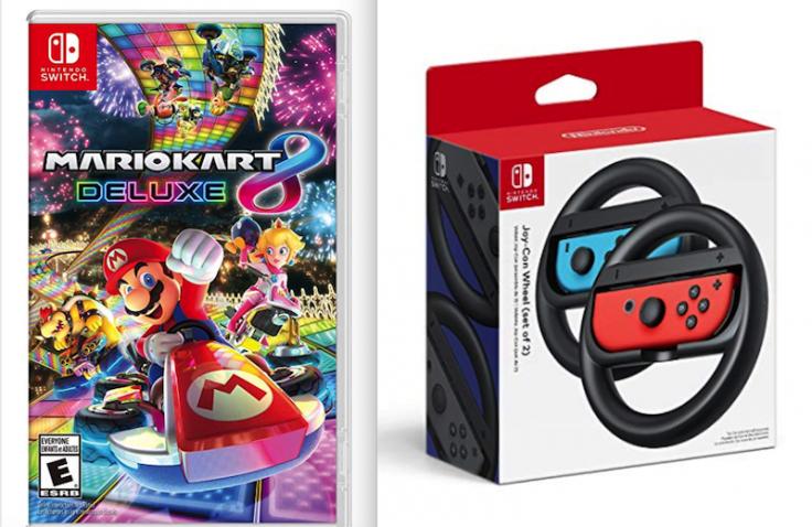 Mario Kart 8 + JoyCon Wheels