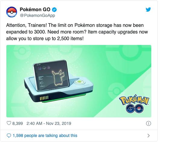 Pokémon Go new update