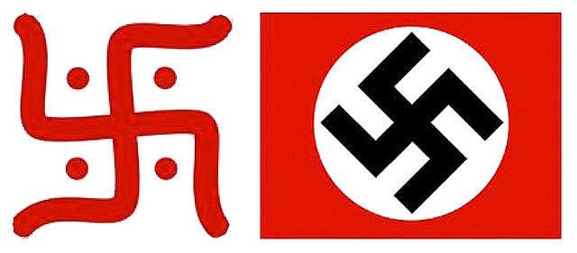 Hindu and Nazi swastik
