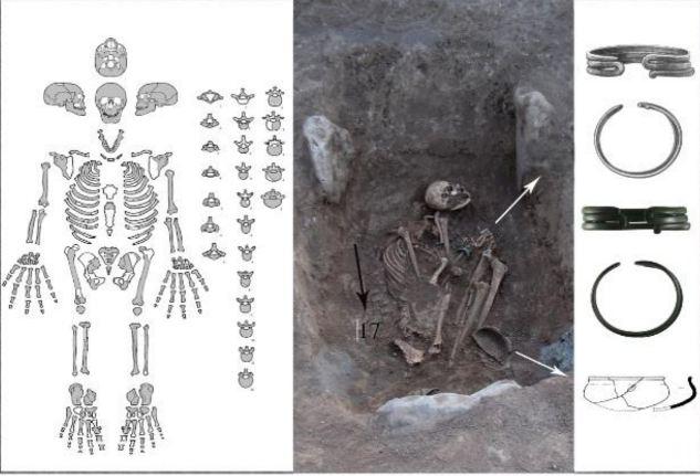 Burial 17 from Bover I necropolis, Armenia