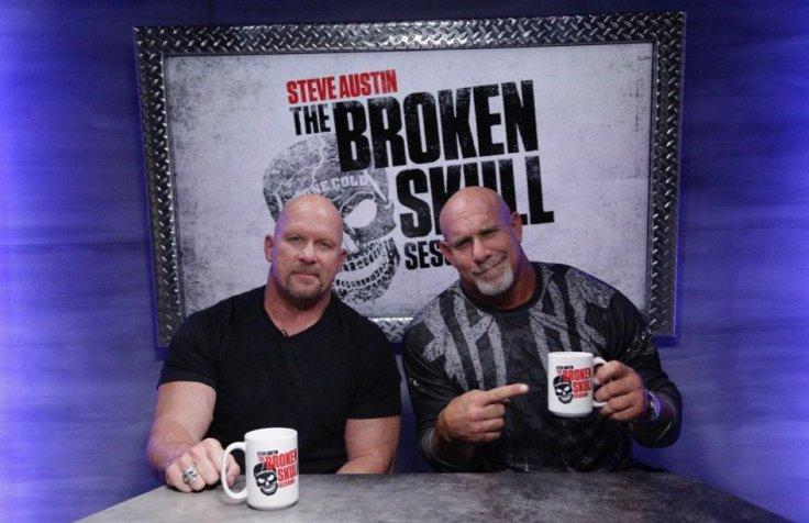 Steve Austin with Goldberg