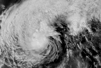 Geostationary imagery of 2019's Typhoon Kammuri
