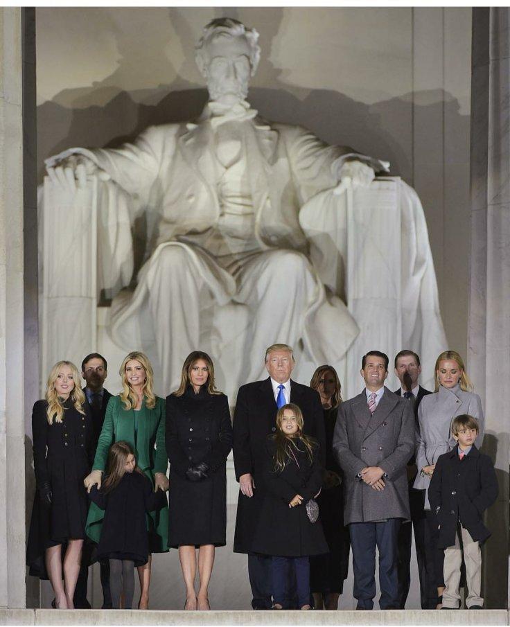 Donald Trump family at Abraham Lincoln Memorial