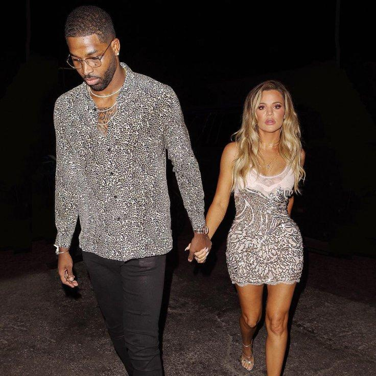 Khloe Kardashian and Tristan Thompsan