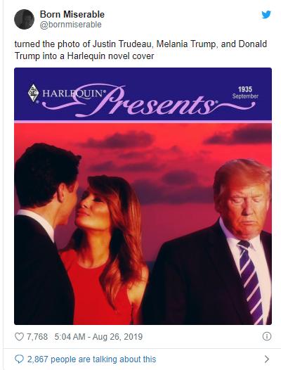 melania trump and  Trudeau
