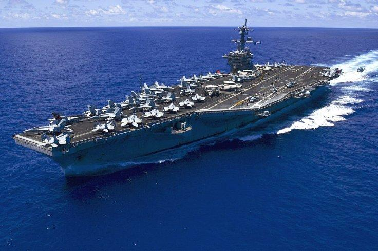 The U.S. Navy aircraft carrier USS Carl Vinson
