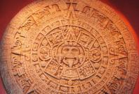 Aztec Sun stone depicting their concept of the universe