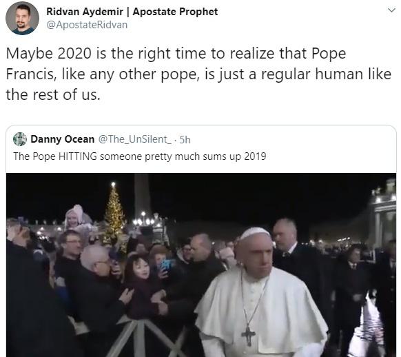 Pope Francis tweet