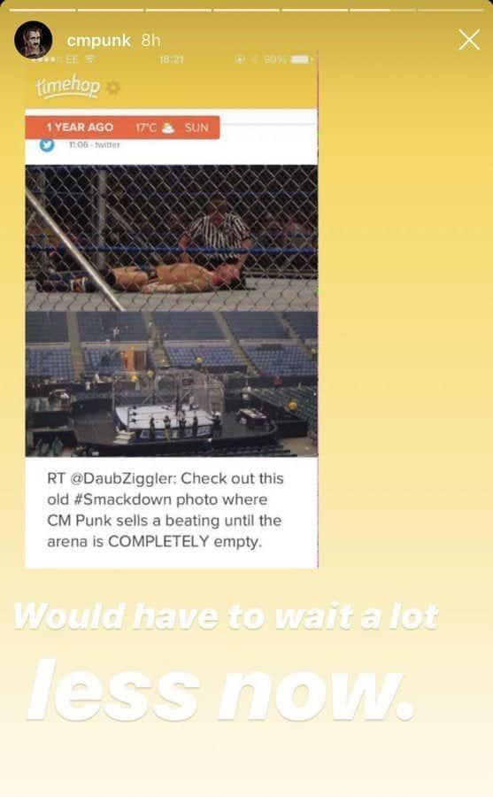 CM Punk's Instagram Post