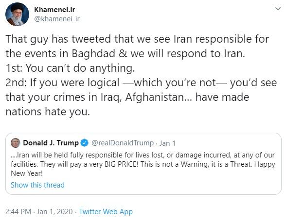 Khameini tweet