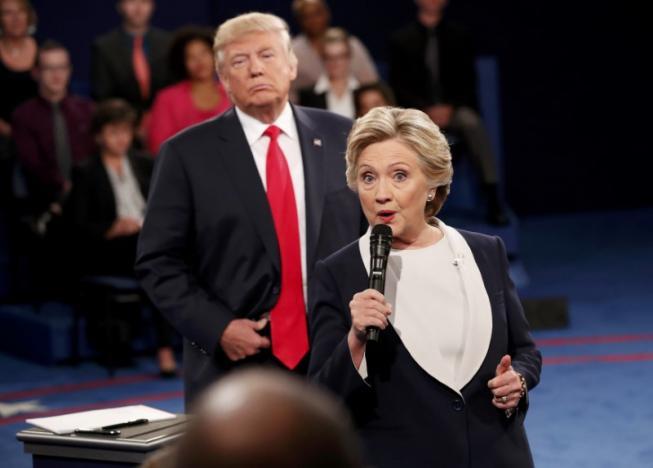 Trump Hillary second debate