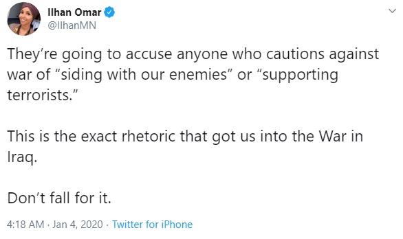 Ilhan Omar's tweet