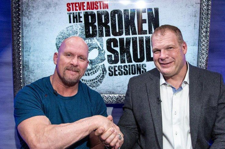 Kane (Glenn Thomas Jacobs) with Steve Austin