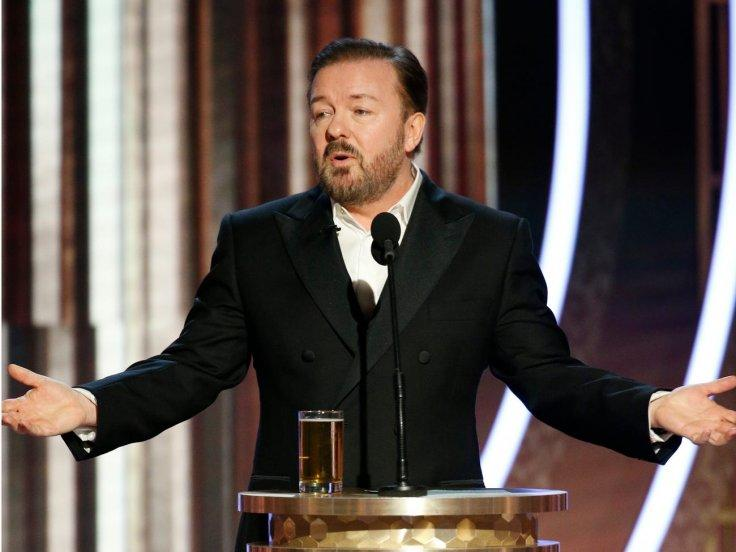 Ricky Gervais at the Golden Globe 2020