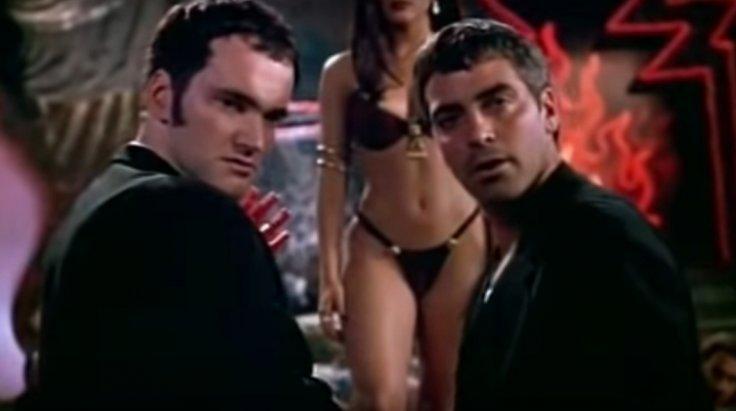 Tarantino and Clooney in 'From Dusk till