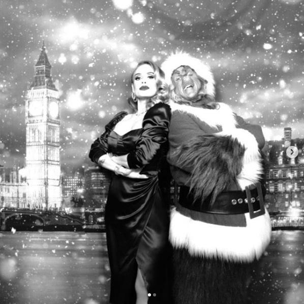 Adele weight loss Christmas picture on Instagram