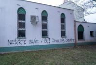 Czech Republic Brno Mosque Vandalized