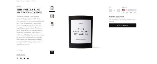 Goop candle