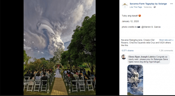 Wedding during Taal Volcano