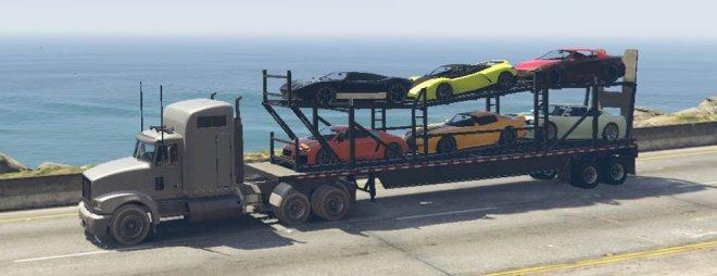 GTA 5 Car Carrier Trailer Mod
