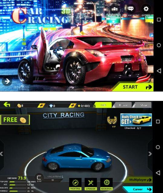 Malicious racing game