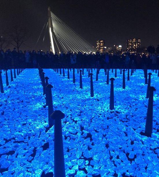 Light-emitting stones in Rotterdam