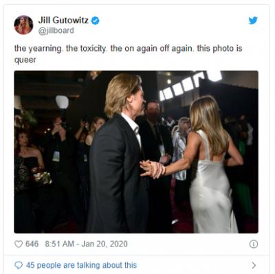 Brad Pitt and jennifer aniston SAG awards