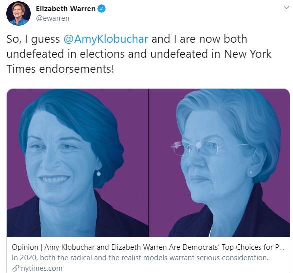Elizabeth Warren's Tweet