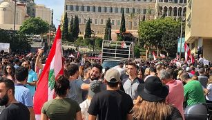 Lebanese protests in Beirut