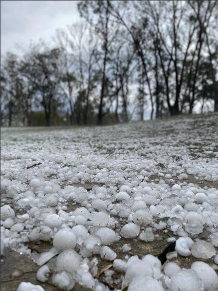 Hail stones in Australia