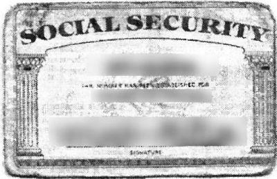 Social Security USA card