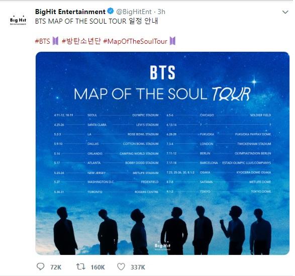 BTS Tweet