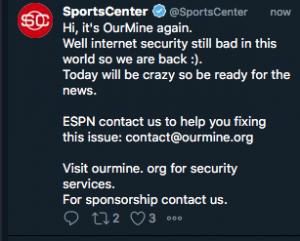 Ourmine ESPN Hack